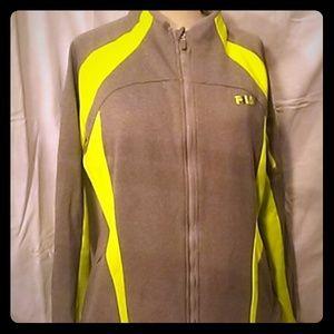 Womens Fila Sport XL Sweatshirt Zip up Jacket